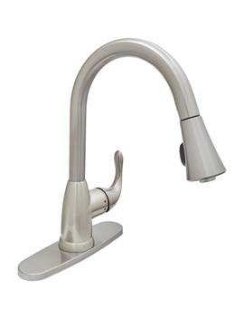 Market Single Handle Pull Down Sprayer Kitchen Faucet In Stainless Steel by Glacier Bay