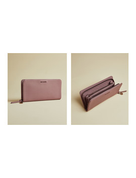 Leather Zip Charm Matinee Purse by Ted Baker