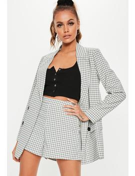 Grey Checked Co Ord Mini Shorts by Missguided