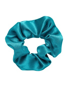 Teal Satin Scrunchie by Sportsgirl