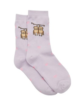 Hanging Sloth Crew Sock by Sportsgirl