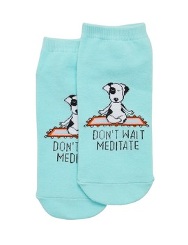 Don't Wait Meditate Ankle Sock by Sportsgirl