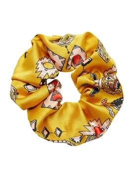 Mustard Aztec Scrunchie by Sportsgirl