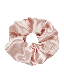 80's Blush Oversized Satin Scrunchie by Sportsgirl