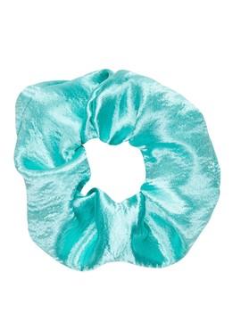 80's Turquoise Oversize Satin Scrunchie by Sportsgirl