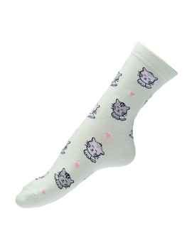 Cat Love Crew Sock by Sportsgirl