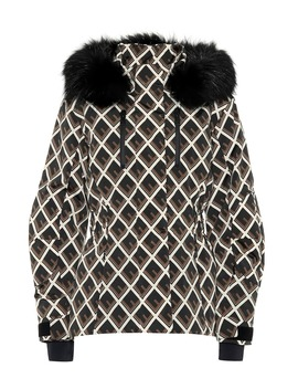 Printed Fur Trimmed Ski Jacket by Fendi