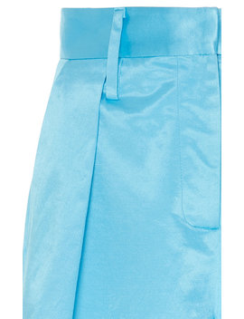 Noah Satin Bermuda Shorts by Staud
