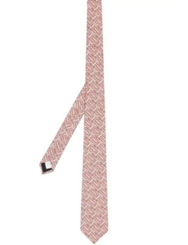 Classic Cut Monogram Print Silk Tie by Burberry