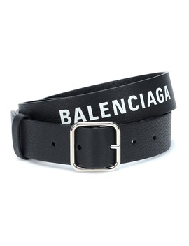 Logo Leather Belt by Balenciaga
