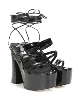 Plateau Patent Leather Sandals by The Attico
