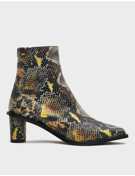 Wave Heel Ankle Boot In Snake by Reike Nen Reike Nen