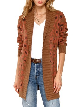 Cameron Belted Leopard Cardigan by Heartloom