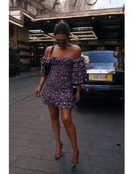 Lorna Luxe Black 'eliza' Secret Garden Print Ruffle Dress by In The Style