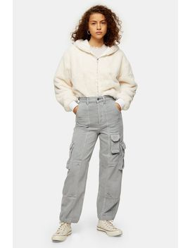 Grey Hybrid Corduroy Jogger Jeans by Topshop