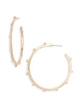 Crystal Stud Hoop Earrings by Rachel Parcell