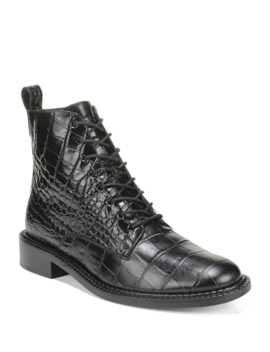 Cabria Embossed Lace Up Booties by Vince