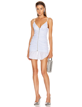 Ruched Front Zipper Cami Dress by Alexander Wang
