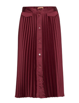 Pleated Midi Skirt With Placket by Scotch & Soda