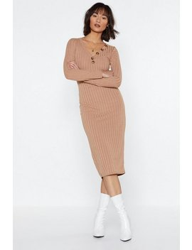 Go For Knit Ribbed Dress by Nasty Gal