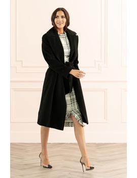 Wool Blend Wrap Coat by Rachel Parcell