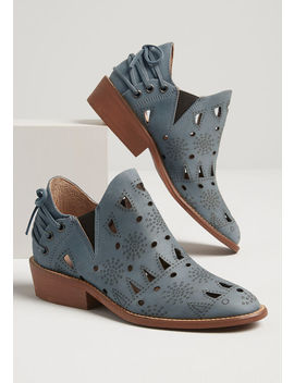 The Right Edge Leather Bootie by Modcloth