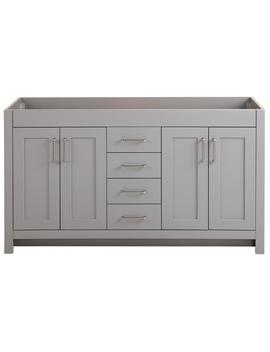 Westcourt 60 In. W X 21.69 In. D X 34.25 In. H Bath Vanity Cabinet Only In Sterling Gray by Home Decorators Collection