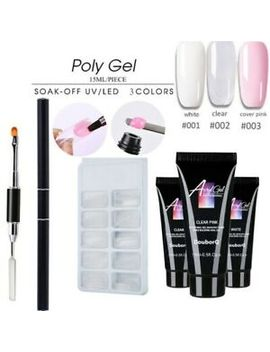 Poly Builder Gel Diy Kit Jelly Crystal Nail Art Glue Quick Extension Polygel Set by Ebay Seller