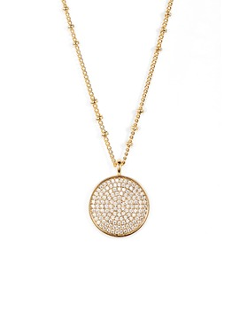 Pristine Cubic Zirconia Disc Pendant Necklace by Gorjana