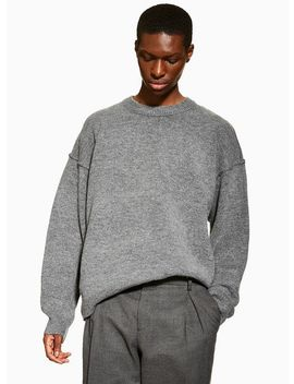 Charcoal Oversized Harlow Jumper by Topman