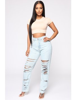 The Cost Of Luv Distressed Boyfriend Jeans   Light Blue Wash by Fashion Nova