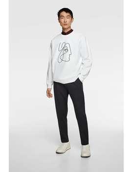 Premium Sweatshirt With James Wilson Illustration  Slogan Sweatshirts Man by Zara