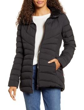 Down & Prima Loft® Walker Jacket With Faux Fur Trim by Bernardo