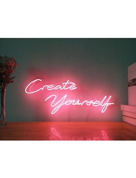 New Create Yourself Neon Sign For Bedroom Wall Home Decor Artwork With Dimmer by Ebay Seller