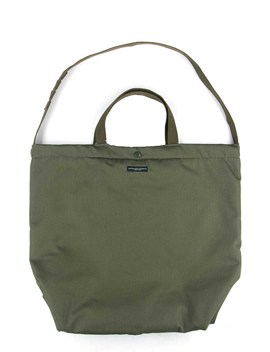 Carry All Tote    Olive Cotton Herringbone Twill by Engineered Garments