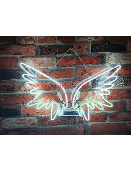 Angel Wings White Neon Sign Acrylic Light Artwork Lamp Bedroom With Dimmer by Ebay Seller