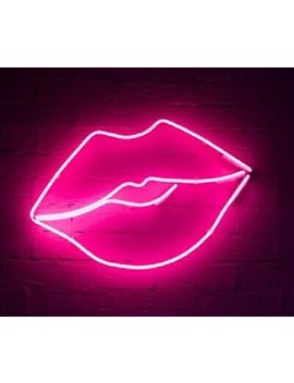 Pink Lips Neon Sign Acrylic Light Artwork Decor Lamp Glass Bedroom With Dimmer by Ebay Seller