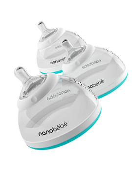 Nanobebe Transition Baby Bottle, Triple Pack, Grey by Nanobebe