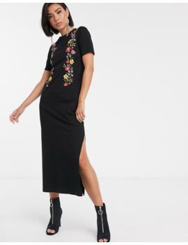 Asos Design Printed Floral Midi T Shirt Dress by Asos Design