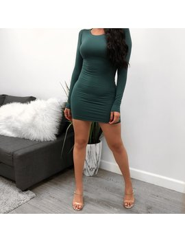 Kim K Long Sleeve Dress (Sage) by Laura's Boutique