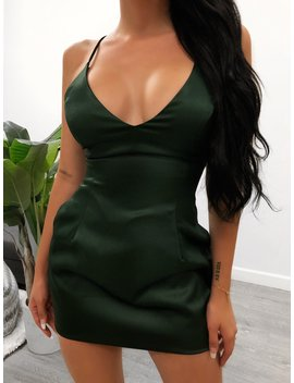 Selena Dress (Hunter Green) by Laura's Boutique