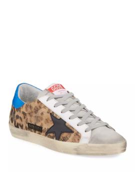 Superstar Leopard Print Low Top Sneakers by Golden Goose