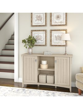 Bush Furniture Salinas Storage Cabinet With Doors In Antique White by Bush Furniture
