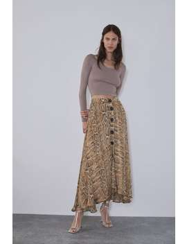 Snake Print Skirt View All Skirts Woman by Zara