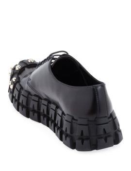 Men's The Wheel Tire Lug Sole Derby Shoes by Prada