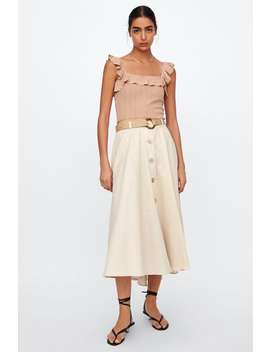 Belted Rustic Skirt View All Skirts Woman by Zara
