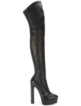 Thigh Length Platform Boots by Casadei