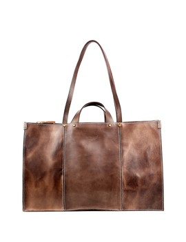 Sandstorm Leather Tote Bag by Old Trend