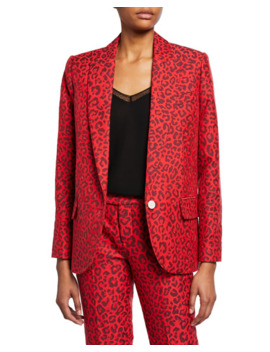 Viking Leopard Print Jacquard Jacket by Zadig & Voltaire