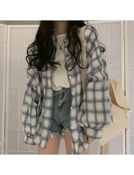 Monroll   Long Sleeve Plaid Shirt by Monroll